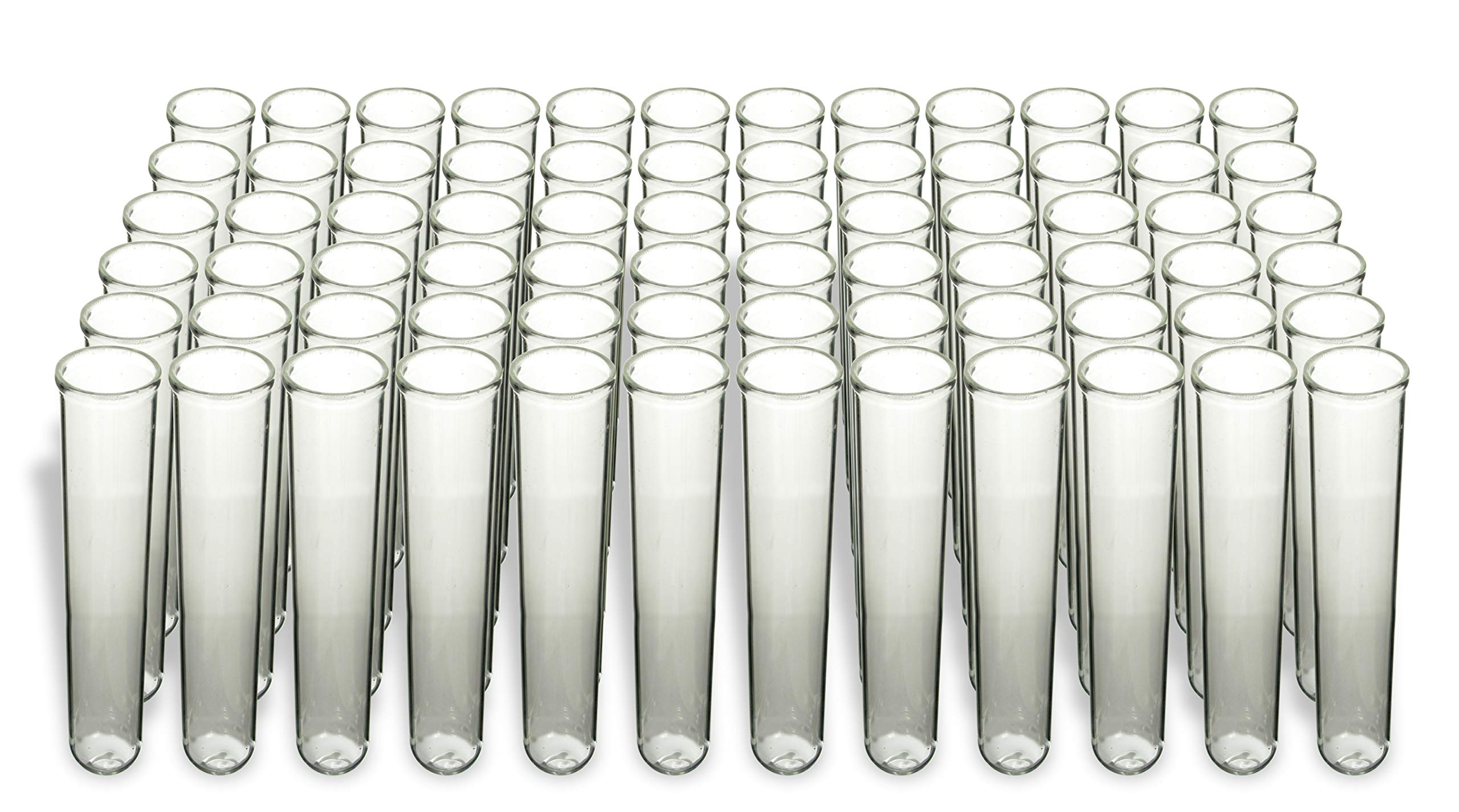American Educational Borosilicate Glass Round Bottom Test Tube, 25mm OD x 150mm Length (Pack of 72)