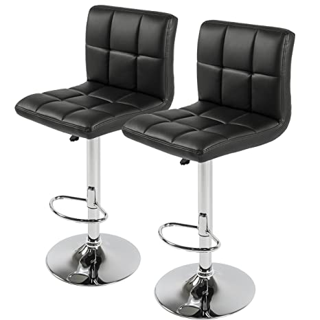 Incredible Best Choice Products Set Of 2 Pu Leather Adjustable Bar Stools Counter Swivel Barstool Pub Black Bralicious Painted Fabric Chair Ideas Braliciousco
