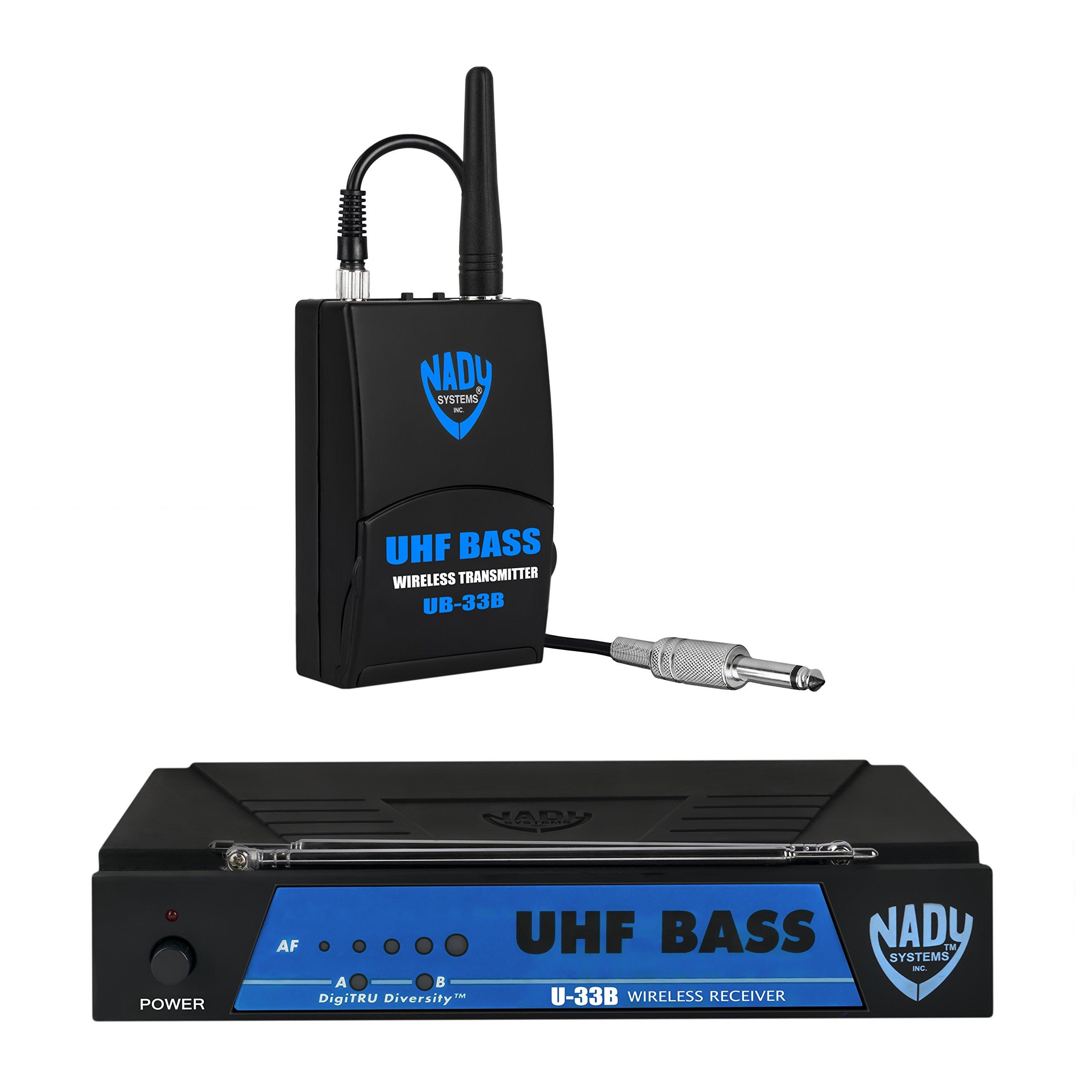 Nady U-33B UHF Wireless Bass Guitar Instrument System with True Diversity by Nady