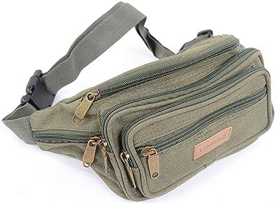 NEW Men/'s Women/'s Canvas Handbag Shoulder Chest Bumbag Fanny Pack Belt Waist Bag
