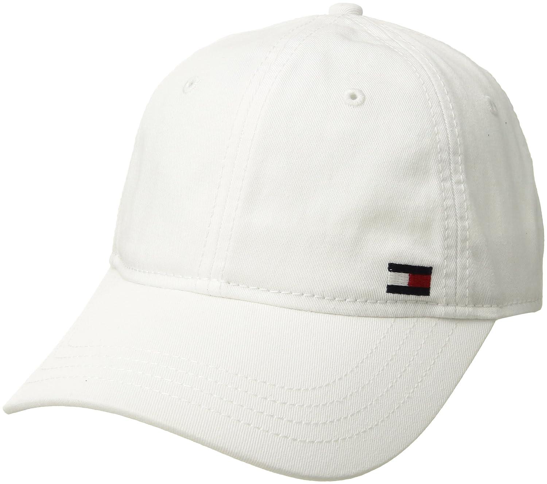 Tommy Hilfiger Mens Standard Dad Hat Billy Corner Flag Cap CS Deep Woven Black O/S 6942926