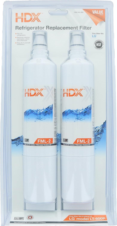 HDX FML-2 Filtro / purificador de agua de repuesto para refrigeradores LG (paquete de 2): Amazon.es: Grandes ...