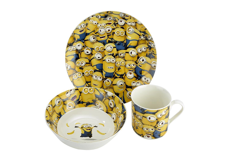 Despicable Me Sea of Minions Mug, Bowl and Plate Set, 3-Piece Arthur Price ZMIN0004