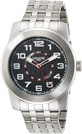 Lancaster 0636MBBKNR - Reloj de Caballero Cuarzo Negro: Amazon.es: Relojes