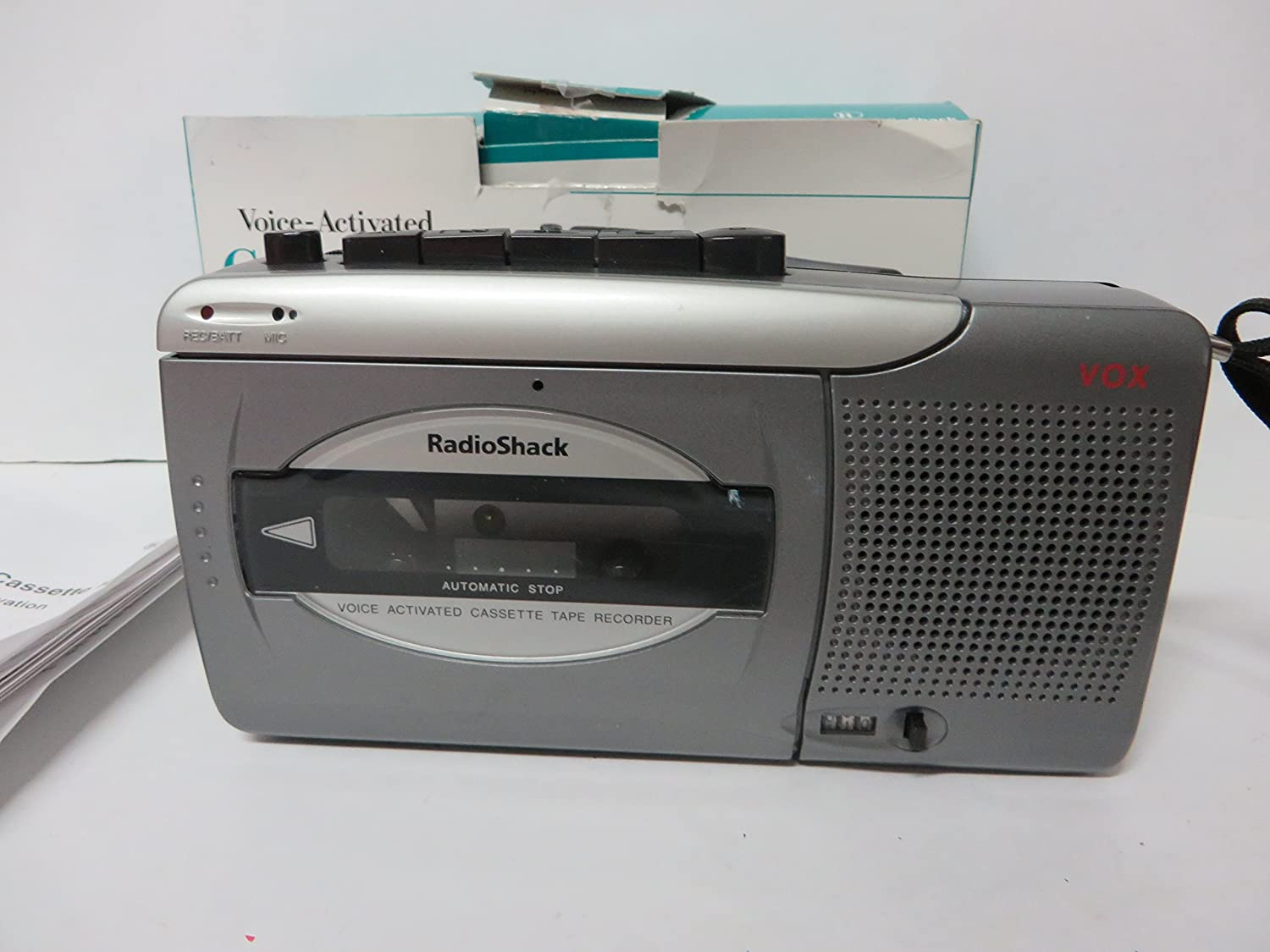 Amazon.com: Radio Shack voice-activated Cassette Recorder CTR-123 standard  size tapes uaed.: Home Audio & Theater
