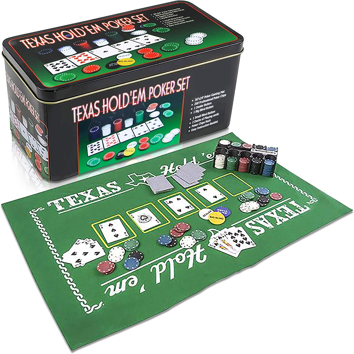 Image result for Texas Hold'em Poker Set