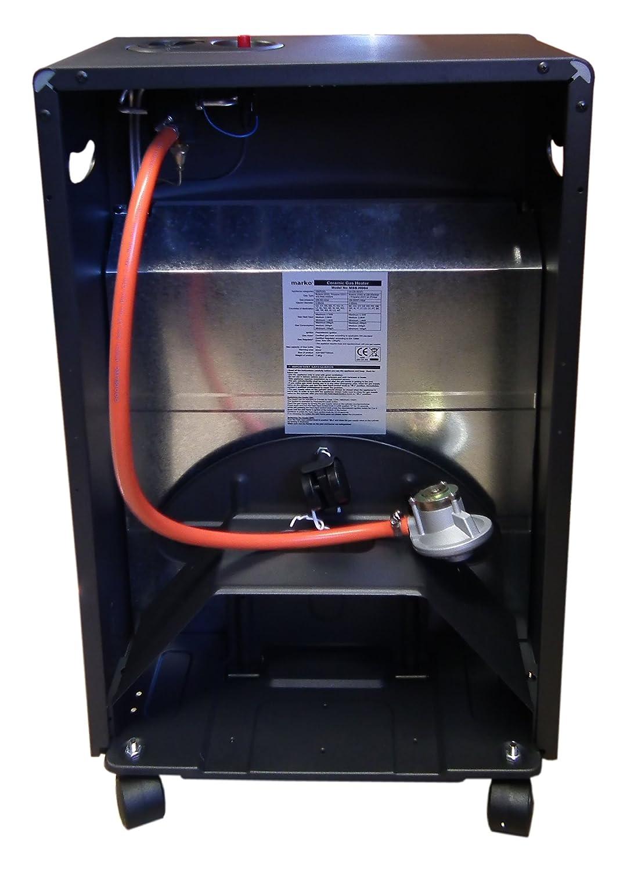 Marko - Estufa de gas (portátil, 4100 W, incluye válvula para bombonas de gas butano de 15 Kg), color negro: Amazon.es: Hogar