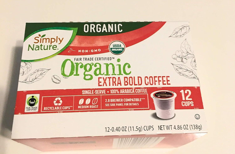 simply nature organic extra bold coffee
