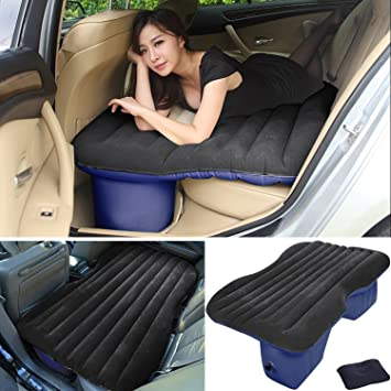Lababe Auto Car Inflatable Air Mattress Bed For Back Seat Of Cars