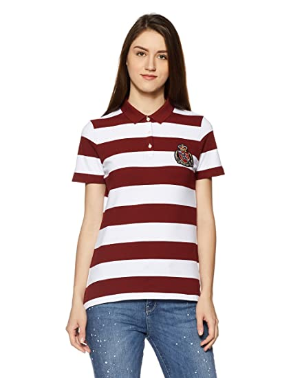 2f2d06d9629 TOMMY HILFIGER Women's Polo: Amazon.in: Clothing & Accessories