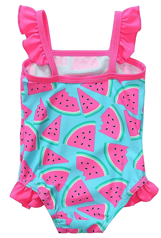 Vegatos Toddler One Piece Swimsuit Baby Girls Swimwear Polka Dots Swimdress