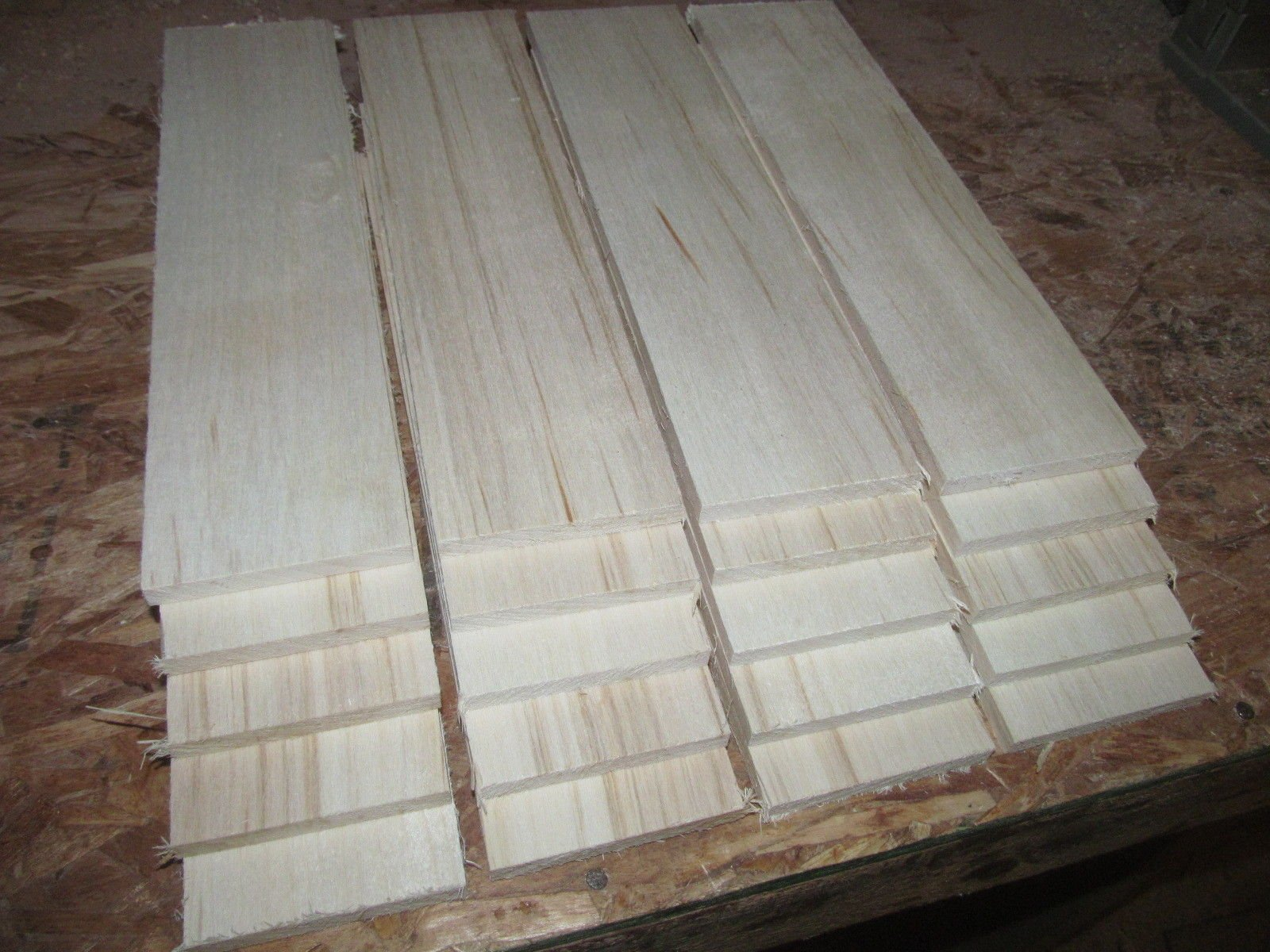 Packages of Thin Premium KILN Dried, Sanded Aspen Lumber Twenty 12'' X 3'' X 3/8''