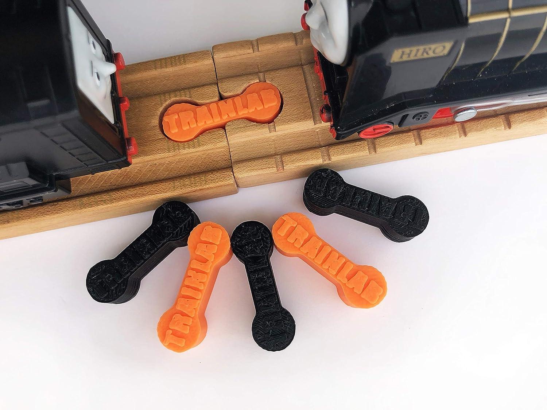 TrainLab ドッグ ドッグ ボーン マルチカラー トレイン トラック トレイン アダプター コネクタ (6個) BRIO トーマス マルチカラー DBONEV1R6 B07J25TTCV ブラック&オレンジ ブラック&オレンジ, ナミオカマチ:08c8c785 --- itxassou.fr