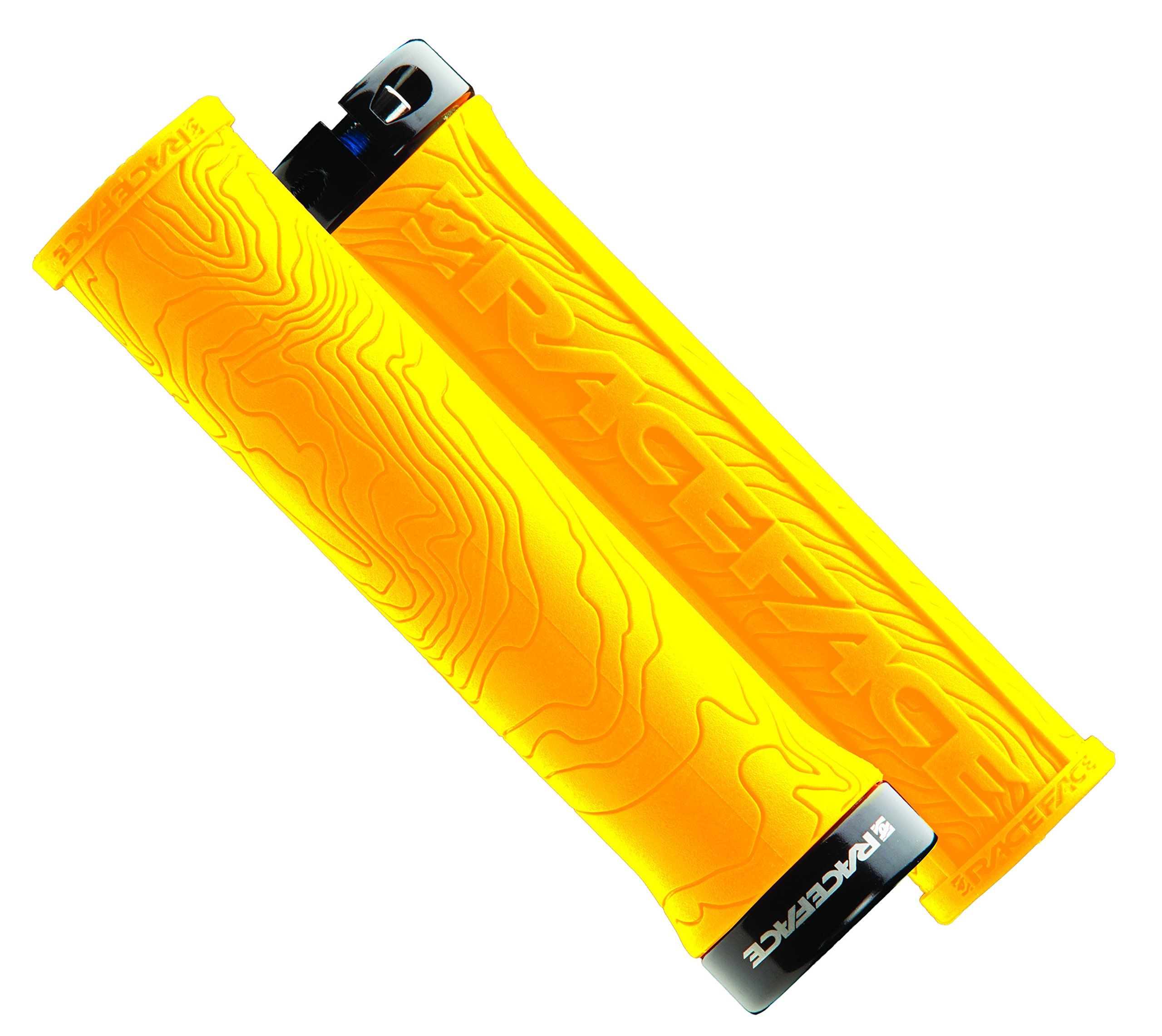 RaceFace Half Nelson Locking Bike Grips, Yellow by RaceFace