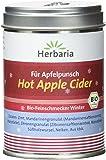 """Herbaria """"Hot Apple Cider"""" Gewürzmischung für Apfelsaft, 1er Pack (1 x 100 g Dose) - Bio"""
