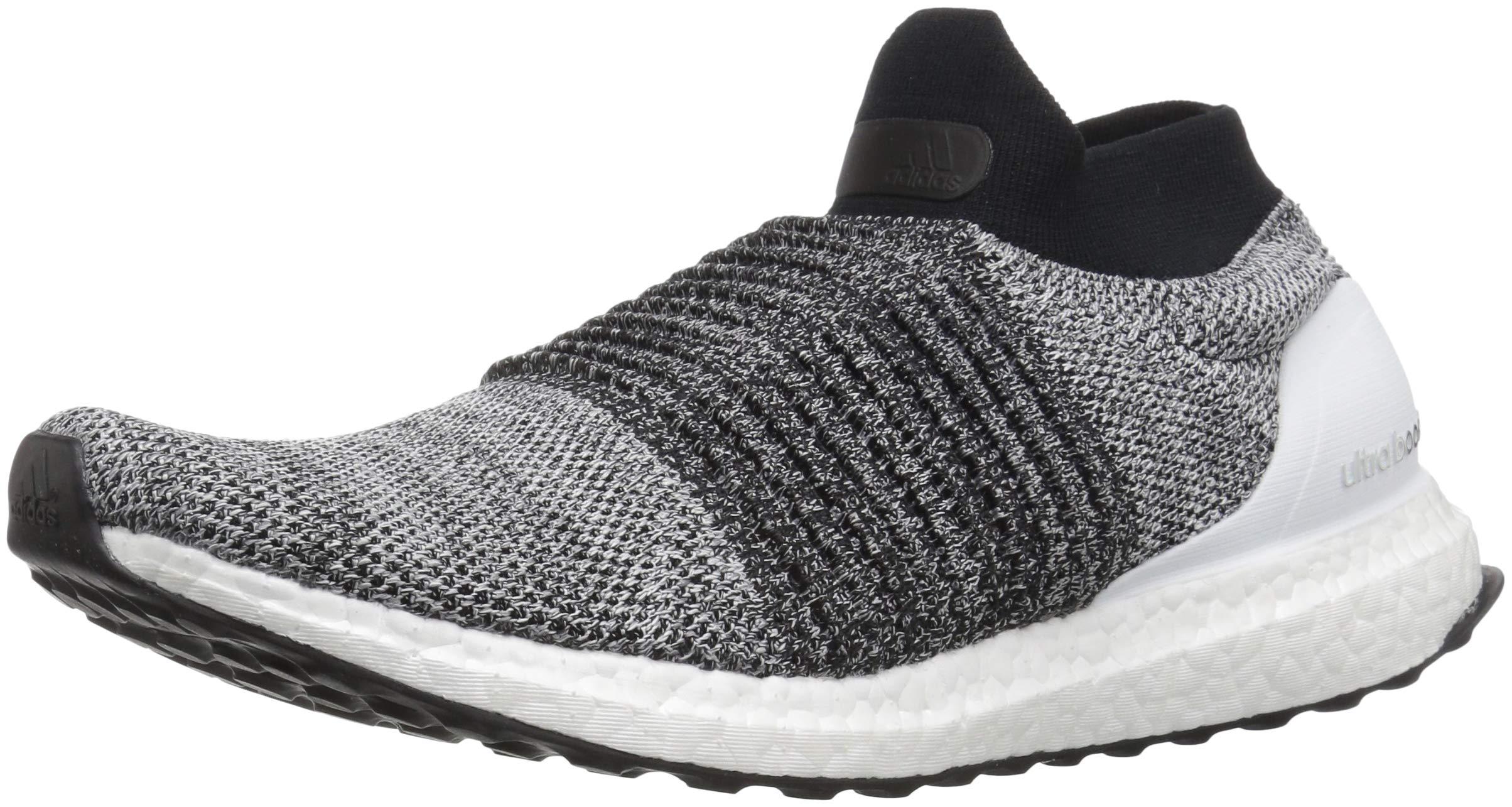 adidas Men's Ultraboost Laceless,white/white/black,13 M US