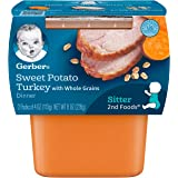 Gerber 2nd Foods Sweet Potato & Turkey Pureed Baby Food, 4 Ounce (Pack of 16)