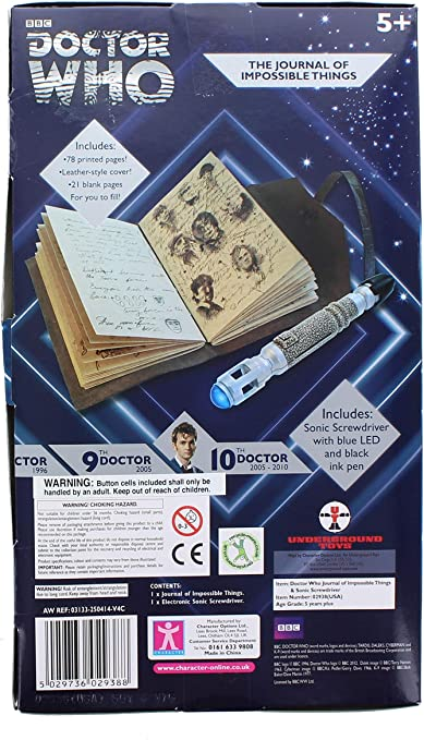 Sonic Screwdriver Replica Doctor Who Journal Notebook