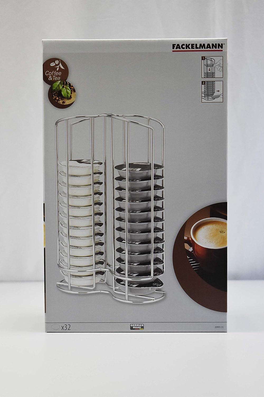 Centimeters Fackelmann Porta c/ápsulas Tassimo Cromado Acero
