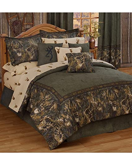 Amazoncom Browning Unisex Whitetails California King Comforter Set
