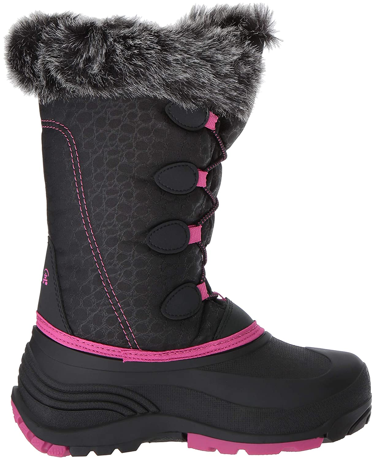 Girl/'s Youth Kamik Snow Gypsy Black//Navy//Pink Winter Boots C18 New!