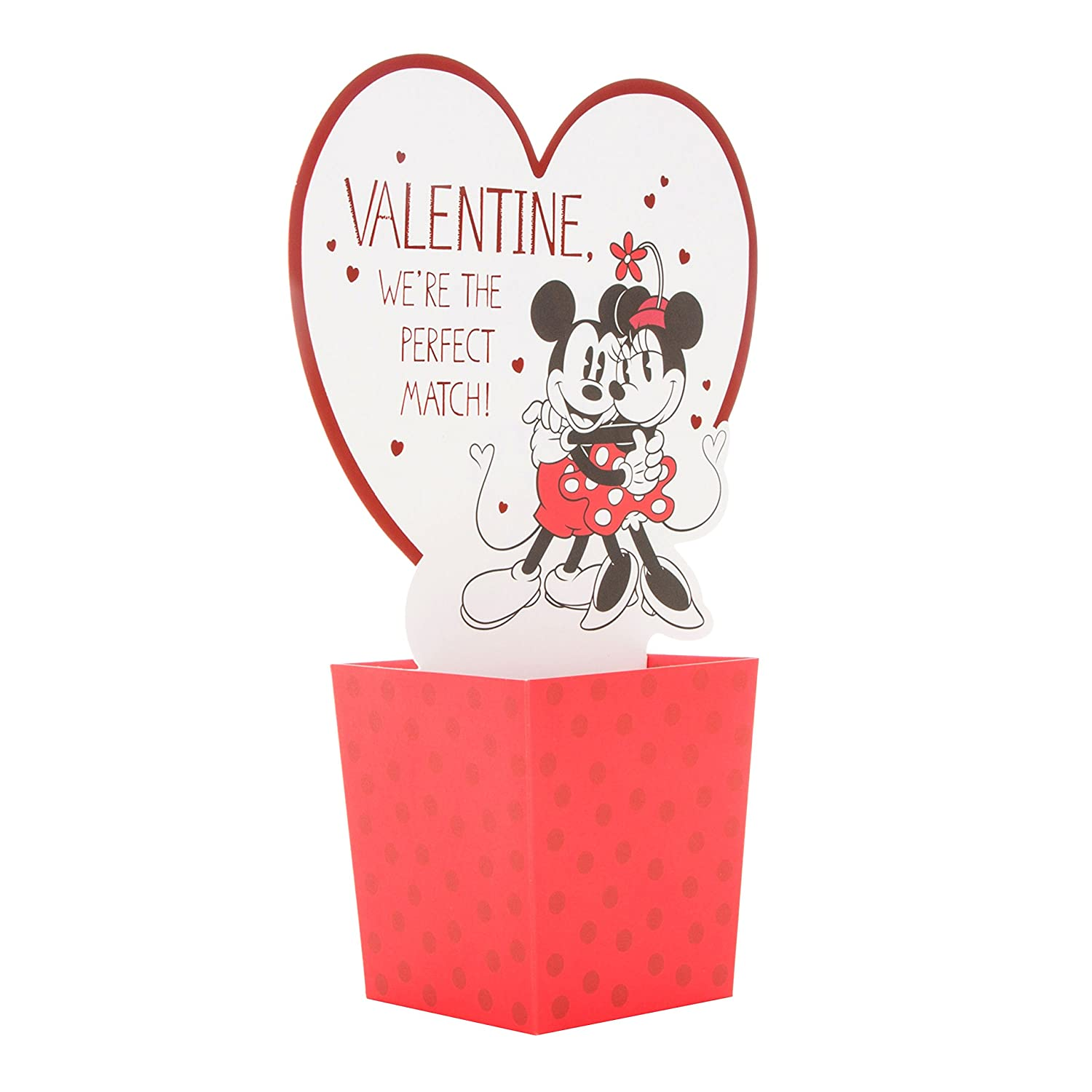 Hallmark Mickey & Minnie Pop Up Valentine\'s Day Card \'Perfect Match ...