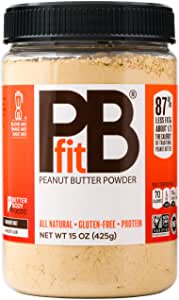 PBfit- All-Natural Peanut Butter Powder 15 oz, Peanut Butter Powder from Real Roasted Pressed Peanuts, Low in Fat High in Protein, Natural Ingredients, 425g (15oz)