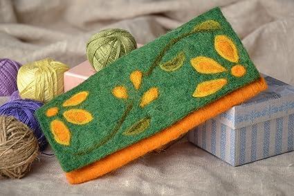 Cartera de moda de lana de fieltro seco con iman: Amazon.es ...