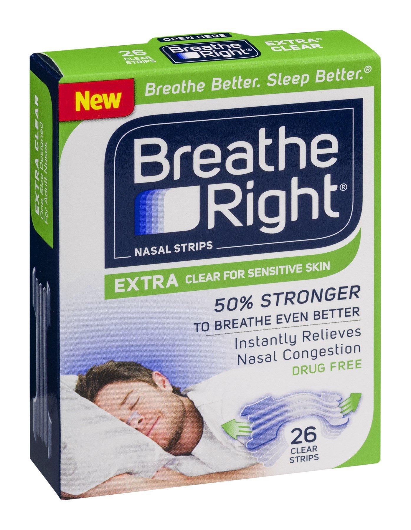 Breathe Right Extra Clear Sleep Strips