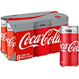 Diet Coca-Cola Soft Drink Multipack Mini Cans 8 x 200mL