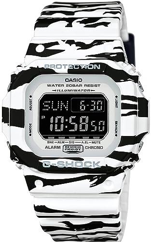 Reloj de hombre Casio G-shock blanco y negro serie dw-d5600bw-7jf: Amazon.es: Relojes