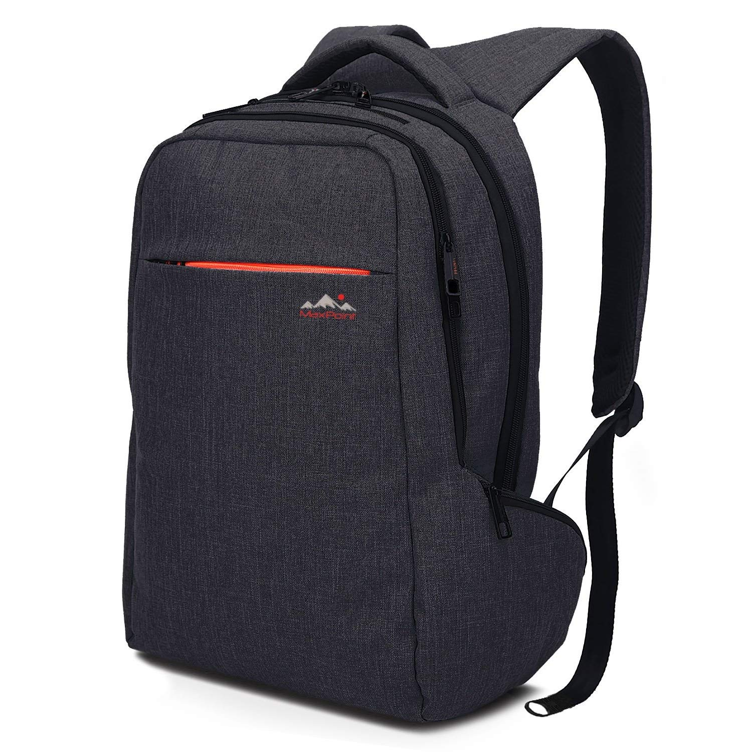 MaxPoint 15.6 inch Tear Water Resistant Slim Laptop Backpack for Men and Woman Backpack Laptop with Anti-Theft Zipper for Your Safety Best Laptop School and College Backpack for Boys Dark Grey