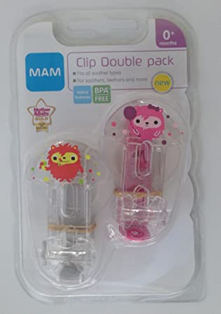 Amazon.com: MAM 2 x Clip Soother Saver Monster (Rosa/Rojo): Baby