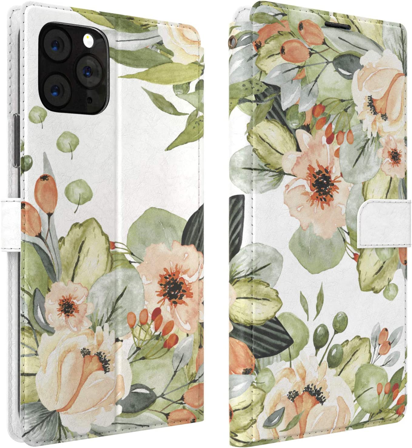 Mertak Wallet Case Compatible with iPhone 11 Pro Max SE 10 Xr Xs X 8 Plus 7 6s Card Holder Cute Flip Lightweight Flowers Bouquet Florist Protective Pattern Floral Magnetic Slim Fit Blossom Folio