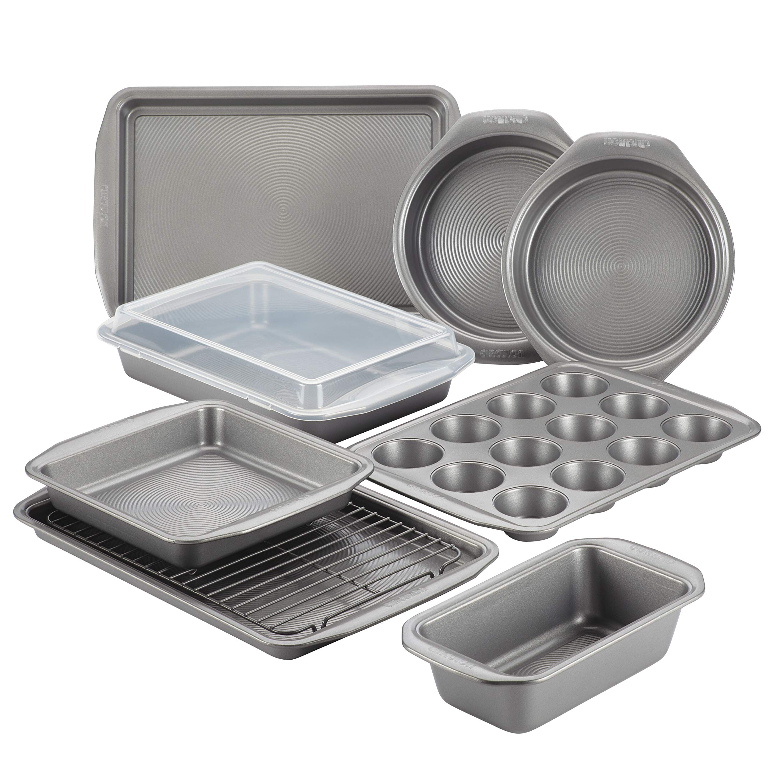 Circulon 47485 10-Piece Steel Bakeware Set, Gray