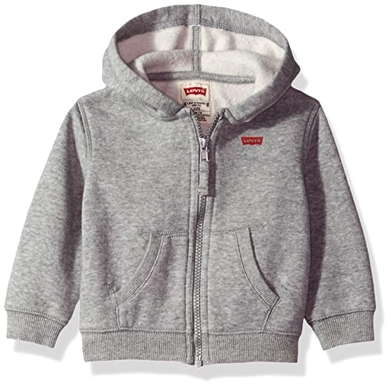 b2ea165409d31 Levi's Baby Boys' Anderson Cotton Hoodie, Grey Heather, 12 Months