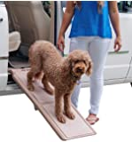 Pet Gear Travel Lite Bi-Fold Ramp for Cats/Dogs, Lightweight/Portable, Safety Tether Included, Rubber Grippers for…