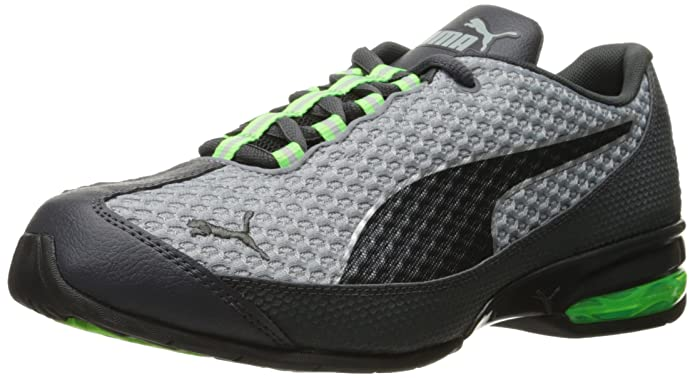 PUMA Men's Reverb Mesh Running Shoe, Quarry/Asphalt/Black/Asphalt, 11 M US