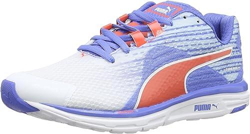 PUMA Chaussures de Running pour Femme Blanc Bleu (Weiß