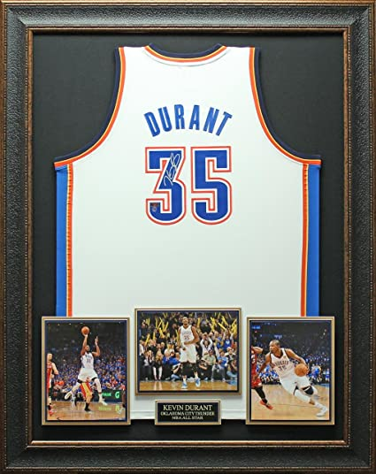 Kevin Durant Signed Jersey - White Framed - Autographed NBA Jerseys ...