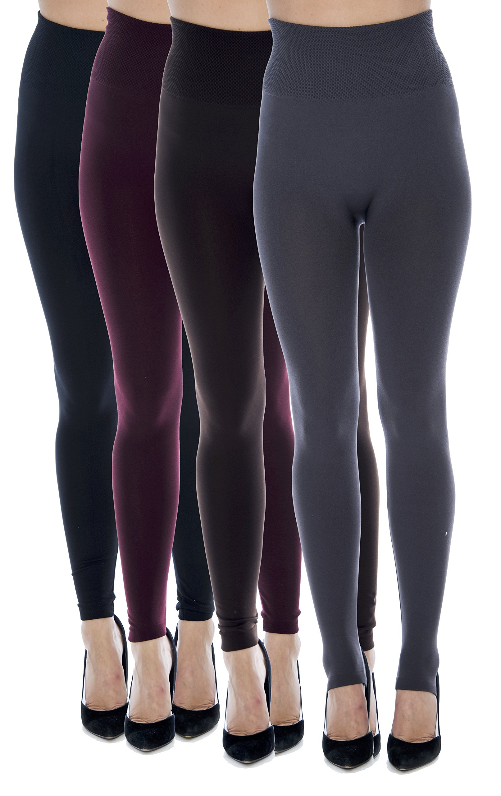 Unique Styles Fleece Lined Leggings for Women Wide Waist Regular Plus Size Pack