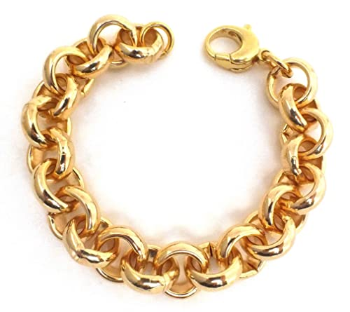Curb Chain Bracelet Rose Gold Doublé Men Women Gift New Jewellery Tendenze ITALY
