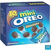 OREO Mini Cookies, Original Biscuit with Chocolate Creme, 1.38 Kilograms (60 Snack Packs), Chocolate Biscuit
