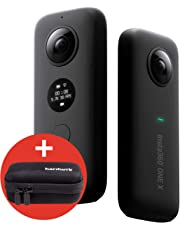 hardwrk Insta360 ONE X Edition mit exklusiver Schutzhülle - 360 Grad Action Sport Kamera Cam - kompatibel mit Apple iPhone und Android - 5,7k Video Auflösung - 18 MP - VR Panorama - FlowState