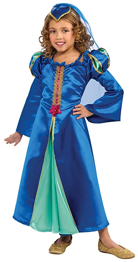 Renaissance Princess Costume, Blue, Small