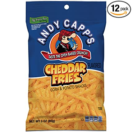 Andy Capps Cheddar Flavored Fries, 3 oz, 12 Pack