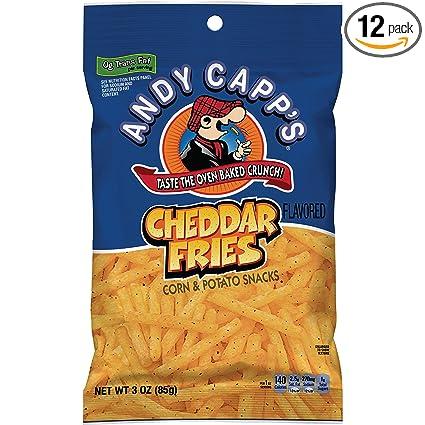 Andy Capp Cheddar patatas fritas, bolsas de 3 onzas: Amazon ...