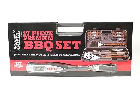 17 Piece Premium BBQ Set