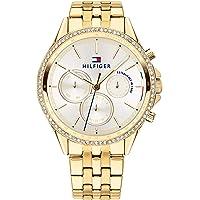 Tommy Hilfiger Dames multiwijzerplaat kwarts horloge met paqué of armband 1781977
