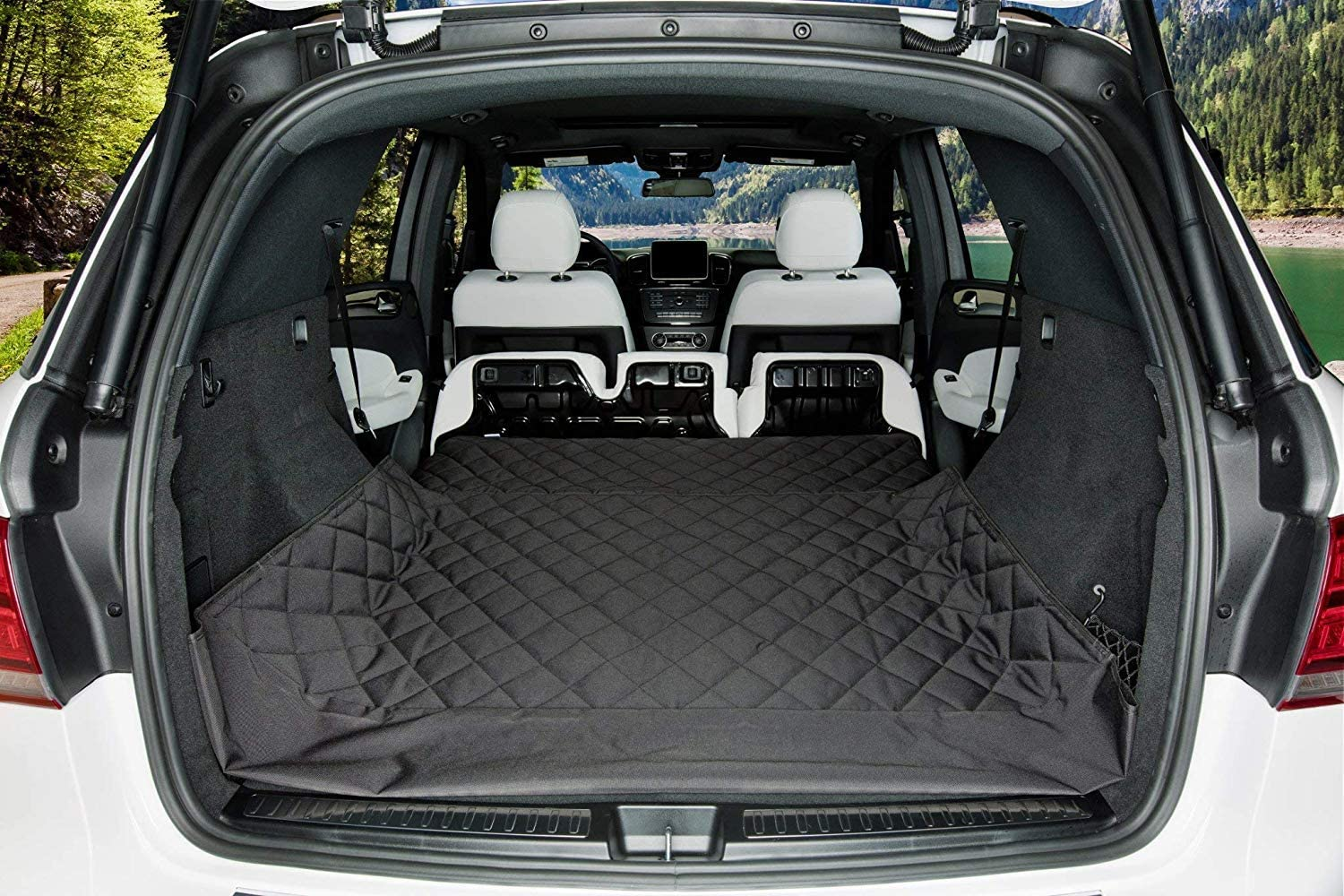 4 Layers Quilted Waterproof Machine Washable /& Nonslip Backing With Bumper Flap Protection For Cars Pet Boot Liner Protector Cover Trucks /& SUVs